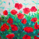 "Oil Painting — Poppy Flowers—Fine Art Oil Painting-Size: 20"" x  16""(50 cm x 40 cm)"