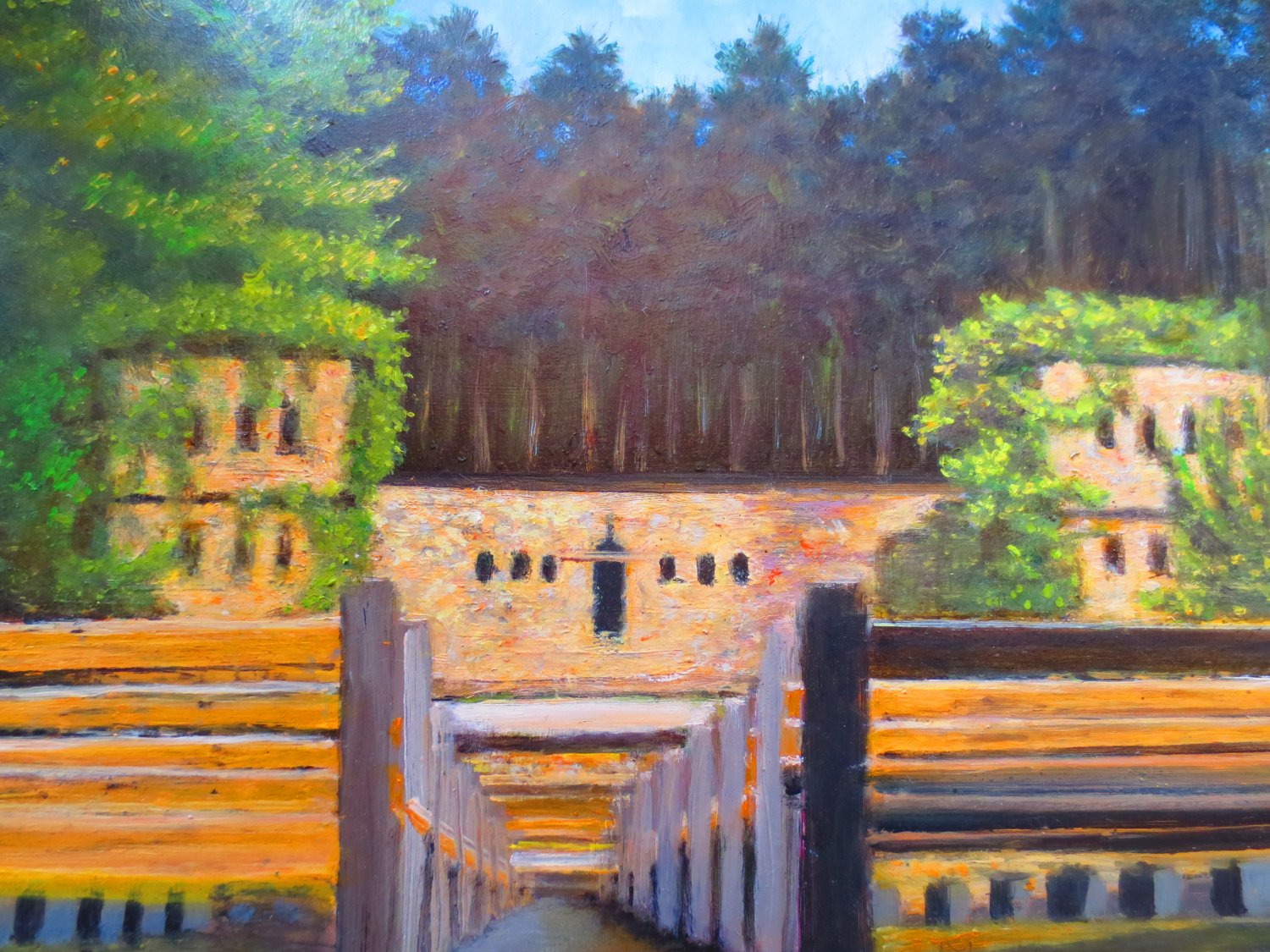 """Oil Painting � Summer Theatre� Fine Art Oil Painting On Canvas-Size: 12"""" x  16""""(30 cm x 40 cm)"""