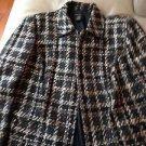 Women's Grace Dane Lewis  lined short coat brown/black with hidden button front