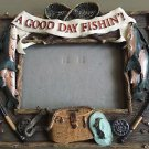 "Picture frame "" A Good day fishing"" 3.5X5"