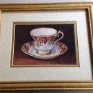 Set of 3 Barbara Mock  Teacup Framed Print - Vintage