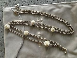 Forever Sterling silver by Ervin Pearl jewerly neckless /earings Cubic Zirconia