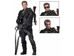 "*IN-STOCK* TERMINATOR 2: 7"" Ultimate Action Figure T-800 By NECA"