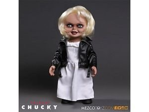 """*IN-STOCK* TIFFANY: Bride of Chucky 15"""" Talking Tiffany Figure Mezco"""