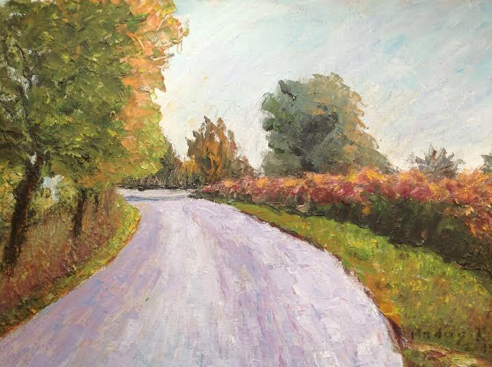 "Oil Painting�Road�Fine Art Oil Painting-Size: 12"" x  16""(30 cm x 40 cm)"