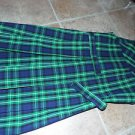girls green school uniform plaid dress 10 M