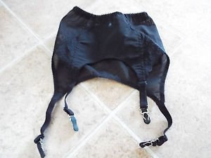 black retro garter belt with lace s