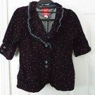 lux corduroy retro cherries fringe navy blue blazer small s