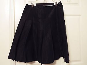 yansi fugel polyester silk pleated full skirt size 10