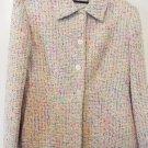 Jones New York multi-color tweed blazer size 4