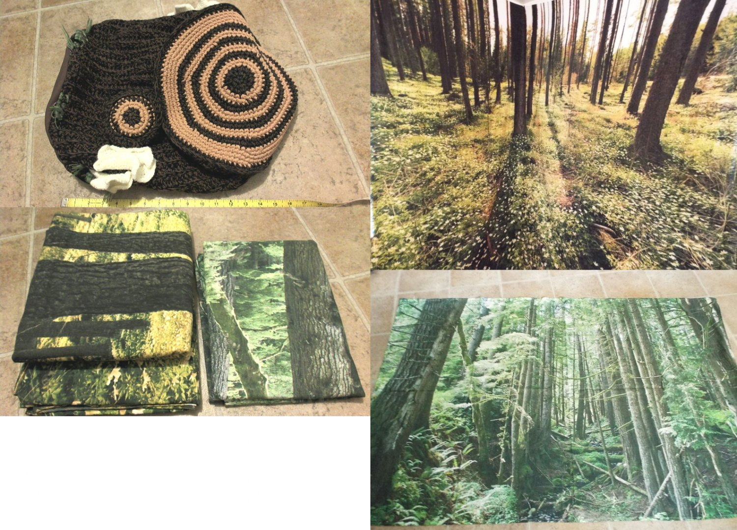 forest woodland nature tapestries tapestry and pouf case cushion