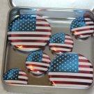 American Flag Foil Magnet Set