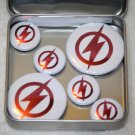 The Flash Logo Foil Magnet Set