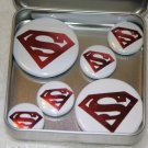 Superman Logo Foil Magnet Set