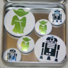 Yoda & R2D2 Foil Magnet Set