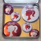 Pink Barbie Foil Magnet Set