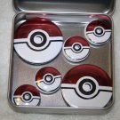 Pokemon Ball Foil Magnet Set