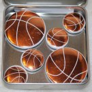 Basket Ball Foil Magnet Set