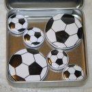 Soccer Ball Foil Magnet Set