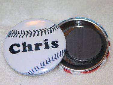 Personalized Baseball Foil Magnet