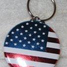 American Flag Foil Keychain