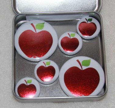 Apple Foil Magnet Set