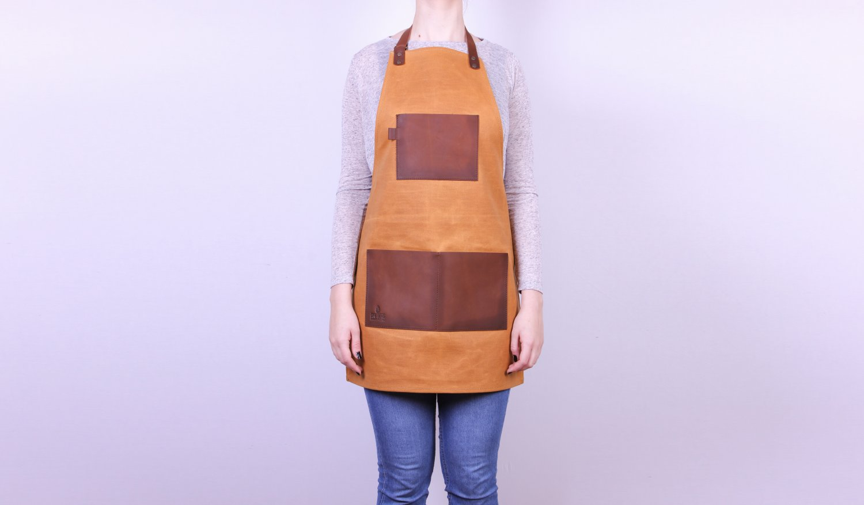Handmade apron Waxed canvas & Leather apron