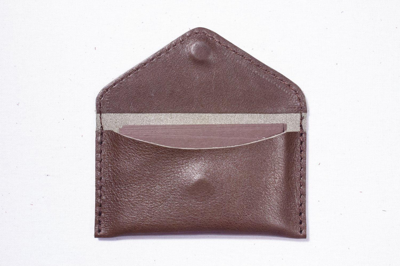 Cognac Visit card Business card wallet Leather case