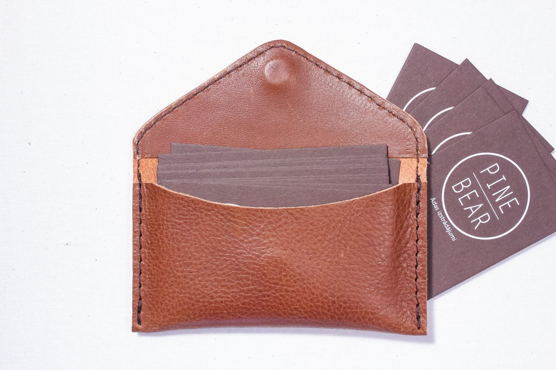 Brown Business Visit Name card wallet holder