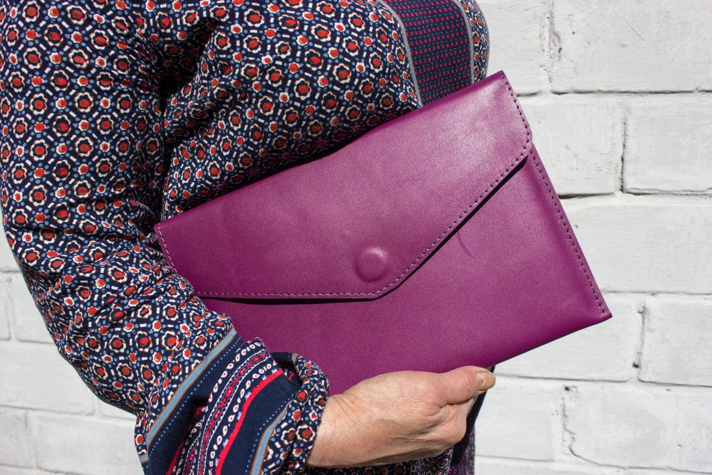 Purple tablet wallet Leather wallet