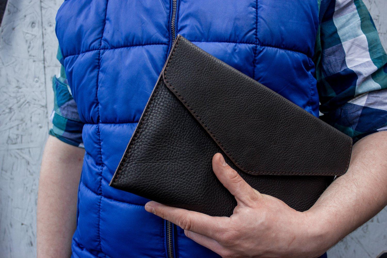 Black tablet wallet Leather tablet case