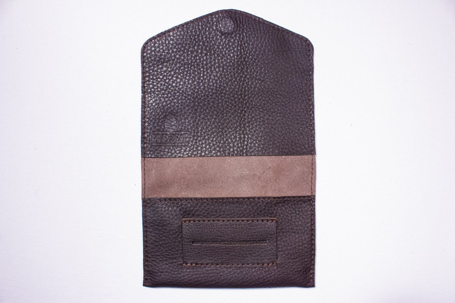 Black tobacco pouch Leather tobacco wallet