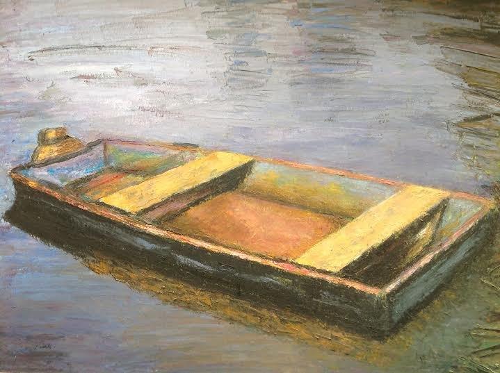 "Oil Painting�Boat�Fine Art Oil Painting-Size: 12"" x  16""(30 cm x 40 cm)"