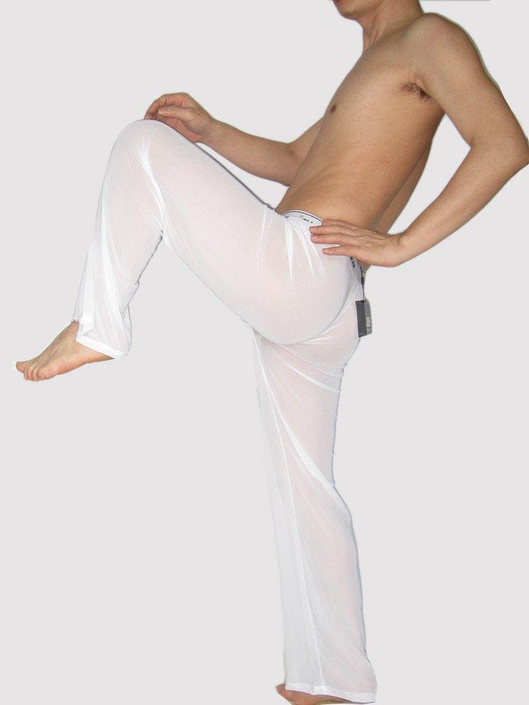Sexy men underwear transparent Yoga Pants Home wear Pajama loose trousers sleep bottoms #M4530