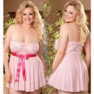 Women's large size sexy exotic lingerie lace chiffon short skirts pajamas baby dolls #S4018