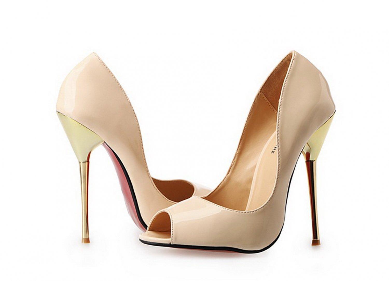 Women's large size open toe nude extra high heels pumps men's crossdressing shoes