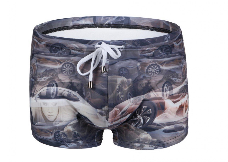 #2021PJ-4 Men's cars printing beachwear swimming boxer shorts swimwear