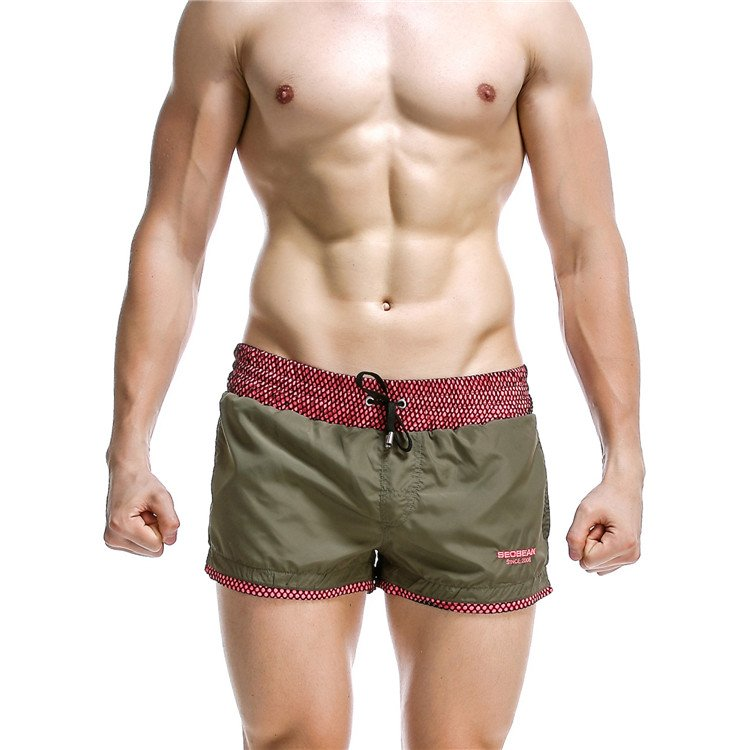 #1024 Green Seobean Sexy men's clothing quick dry sports shorts