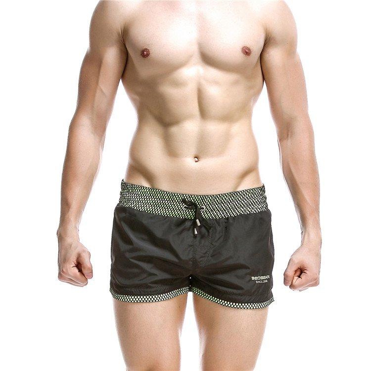 #1024 Black Seobean Sexy men's clothing quick dry sports running shorts