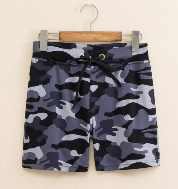 #504 Seobean Gray Men's clothing cotton low rise sports gym running athletics causal shorts