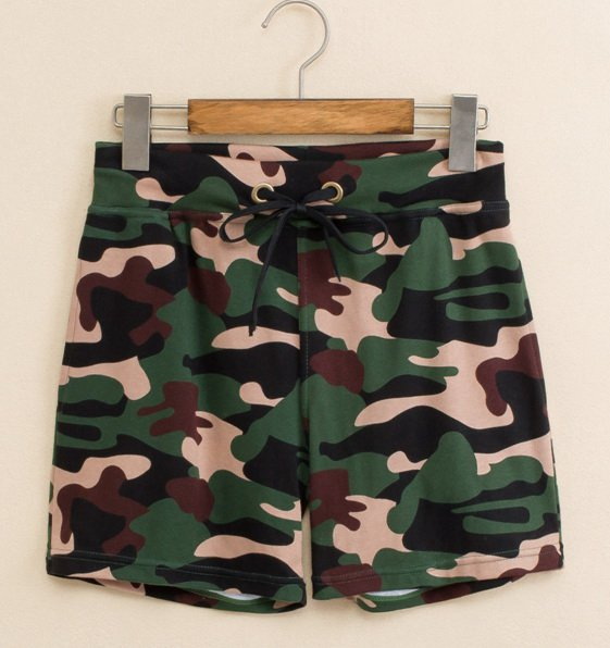 #504 Seobean Camouflage green Men's clothing cotton sports gym running athletics causal shorts