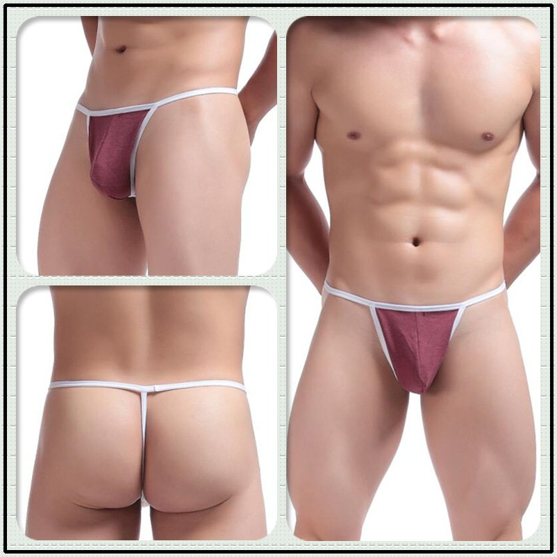 #C045 Red 2pcs/lot Ciokicx sexy gay men's underwear cotton low rise thongs t-strings g-strings