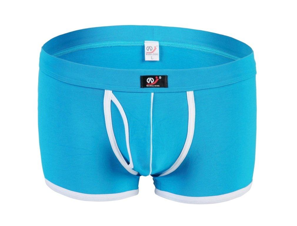 #5002PJ Wangjiang Blue Men's sexy underwear cotton pouch cuecas calzoncillos panties boxer shorts