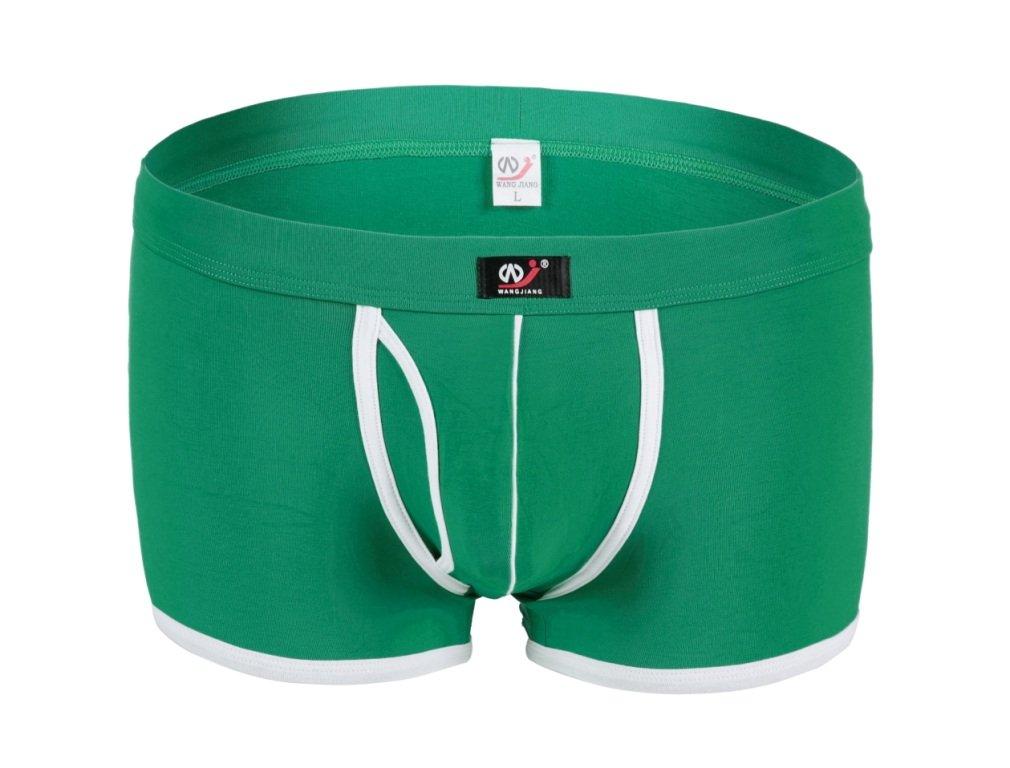 #5002PJ Green Wangjiang Men's sexy underwear cotton pouch cuecas calzoncillos panties boxer shorts
