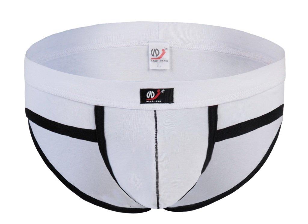 #5002SJ White Wangjiang Men's sexy underwear cotton pouch cuecas calzoncillos briefs underpants