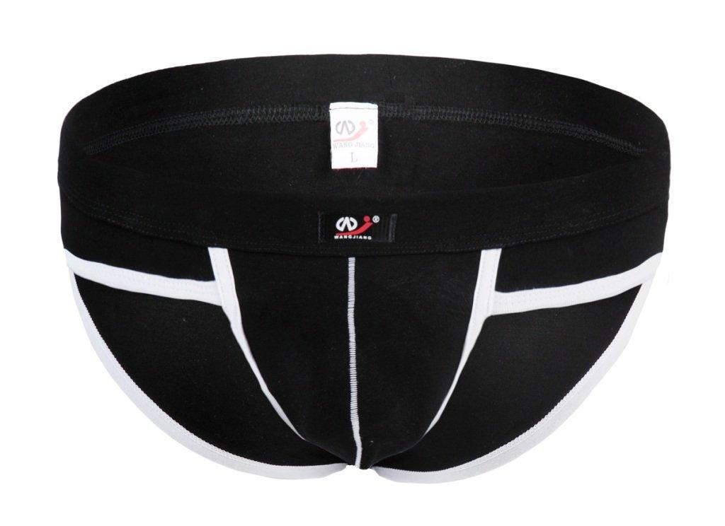 #5002SJ Black Wangjiang Men's sexy underwear cotton pouch cuecas calzoncillos briefs underpants