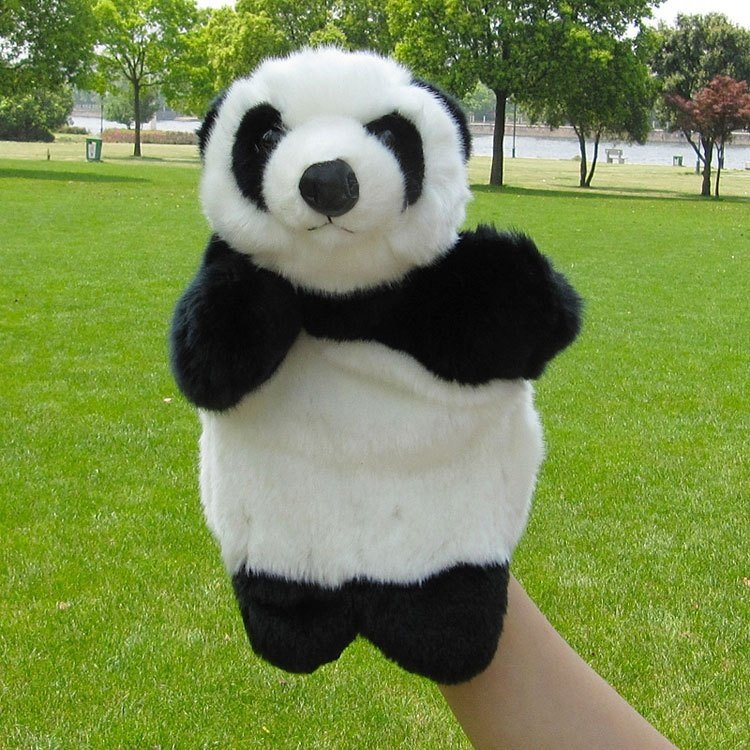 #P01 Panda Shape Puppet Plush Toy 3-7 years old baby telling story helper Hand puppet