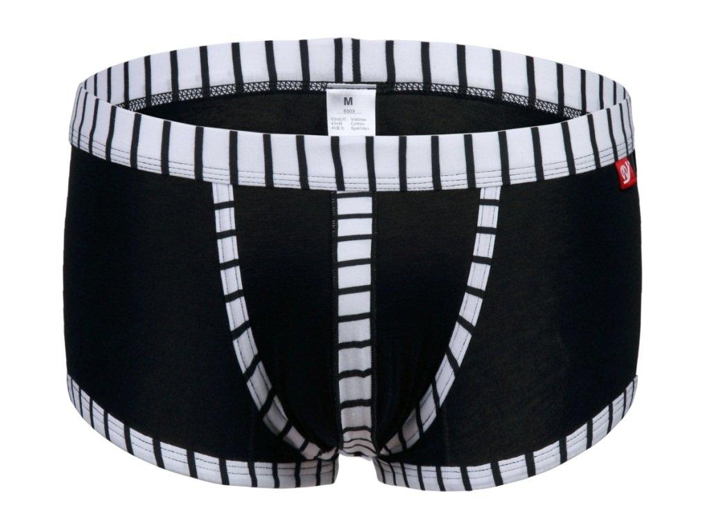 #5003PJ Black wangjiang brand Men's sexy underwear cotton stripes cuecas underpants boxer shorts