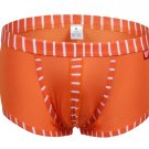 #5003PJ Orange wangjiang brand Men's sexy underwear cotton stripes cuecas underpants boxer briefs