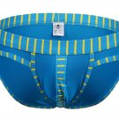 #5003SJ Blue wangjiang brand Men's sexy underwear cotton stripes cuecas panties briefs